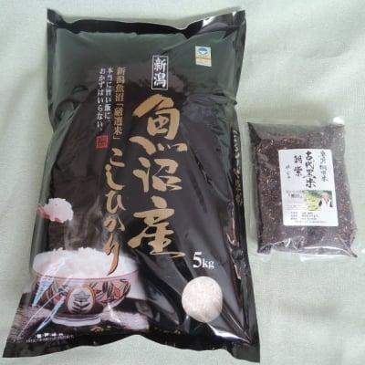 精米5キロ + 古代米 魚沼産コシヒカリ 棚田米