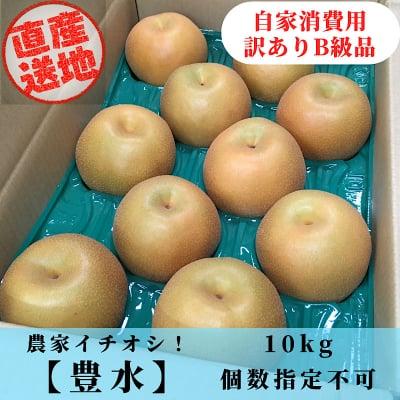 [ご予約受付:8月下旬から発送予定]豊水梨/加工/自家消費用/訳ありB級品/優品/10kg