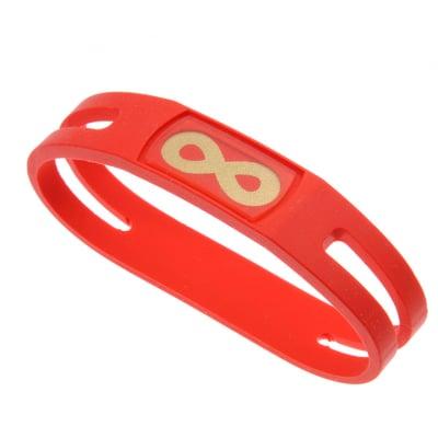 【レッド Sサイズ内径16cm】簡単・安全・安心・健康サポート&転倒予防‼ 腕につけるだけで、ポケット...