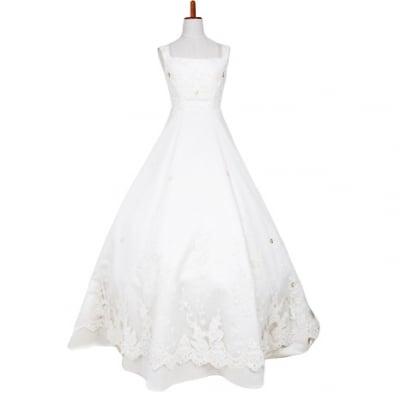 【激安】ウエディングドレス/ウェディングドレス/中古/ホワイトドレス/ww-0001