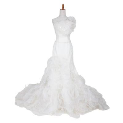 【激安】ウエディングドレス/ウェディングドレス/中古/ホワイトドレス/ww-0003