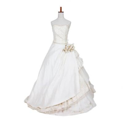 【激安】ウエディングドレス/ウェディングドレス/中古/シャンパンゴールドドレス/ww-0027