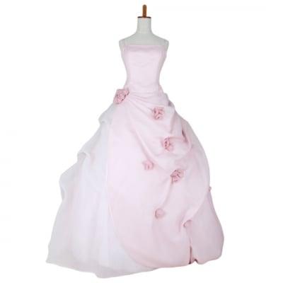 【激安中古】カクテルドレス/お色直しドレス/カラードレス/ピンク/wc-0037