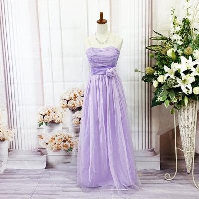 ロングドレス/Mサイズ/ラベンダー/スミレ/パープル/紫/ピンク/色違いあり/st-m-0072-1.2