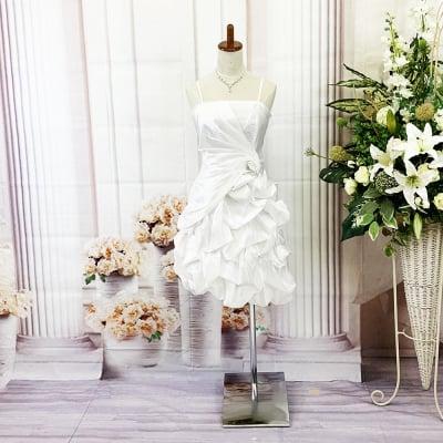 ミニドレス/Mサイズ/ホワイト/白/ワインレッド/色違いあり/可愛いスカート/st-m-0106-1.2