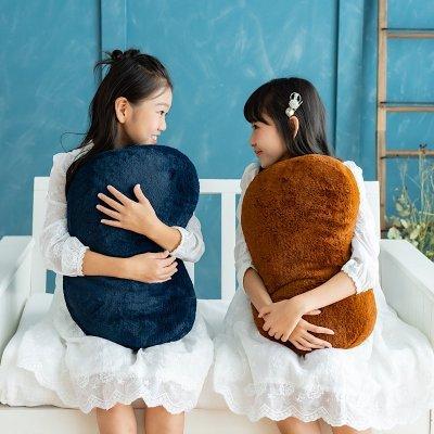 癒しを追求した美容師が考えた。【プリンセスの抱き枕】®フェイクラビットファーでふわふわ。全2色・ネイビー・ブラウン