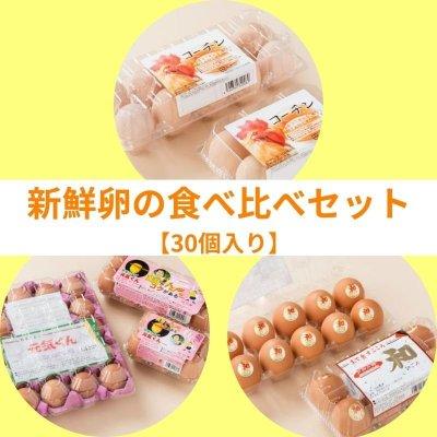 【30個入り】新鮮卵の食べ比べセット