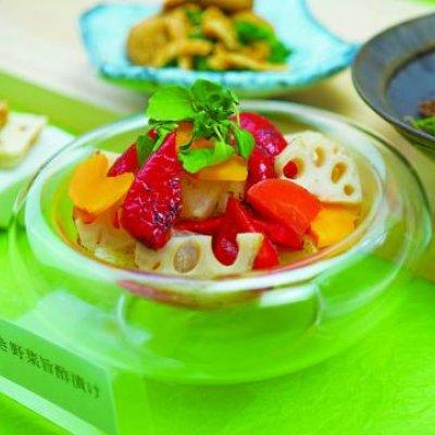 焼野菜のピクルス/5種類の野菜をピクルスに/冷酒やワインに合います