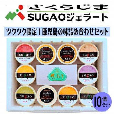 【お中元】さくらじまSUGAOジェラート|鹿児島の味詰合せ10個セット