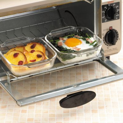 iwaki オーブントースター皿(ハーフ)KSK3840T-2 2枚組